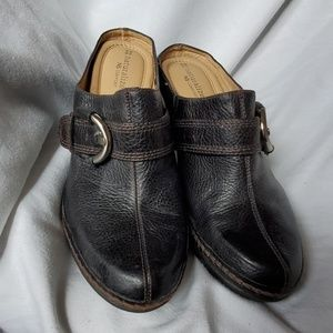 Black leather mules naturalize N5 comfort